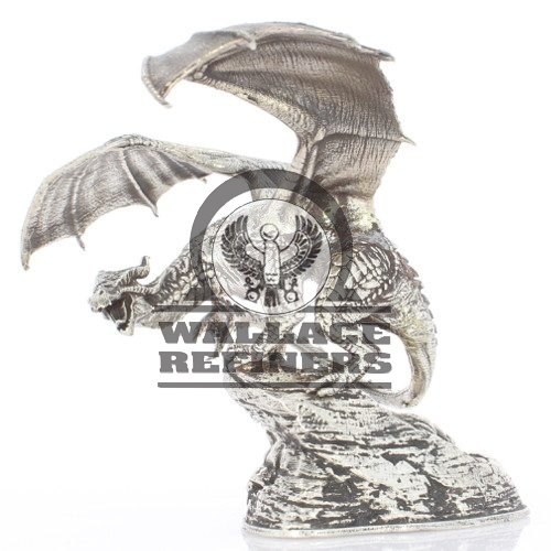 1 Kilo Antique Finish Coco the Dragon Silver Statue (Box + CoA)