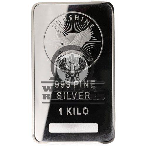 1 Kilo Sunshine Silver Bar (New