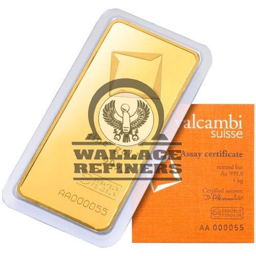 1 Kilo Valcambi Gold Bar (New w/ Assay)