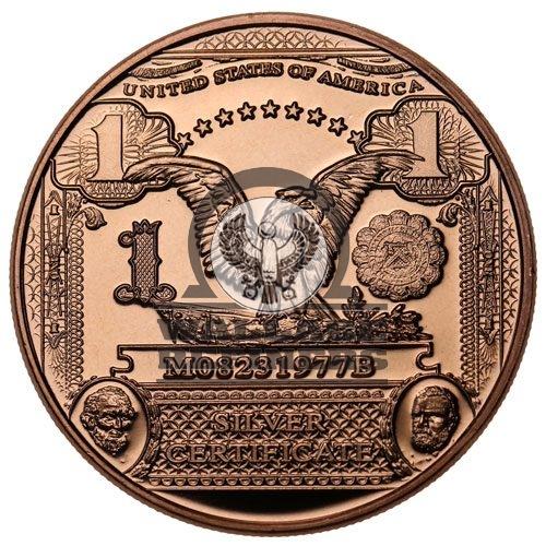 1 oz $1 Banknote Copper Round (New)