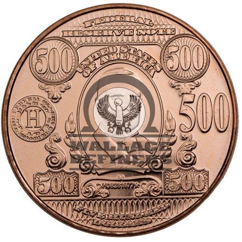 1 oz $500 Banknote Copper Round (New)