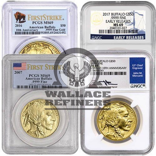 1 oz American Gold Buffalo Coin MS69 (Random Year