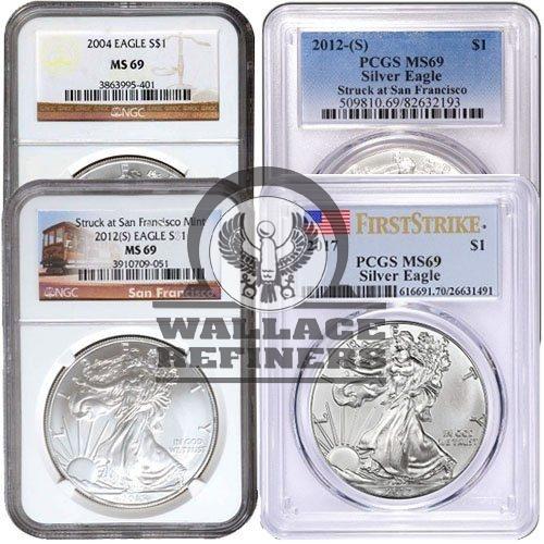 1 oz American Silver Eagle MS69 (Random Label / Random Year)