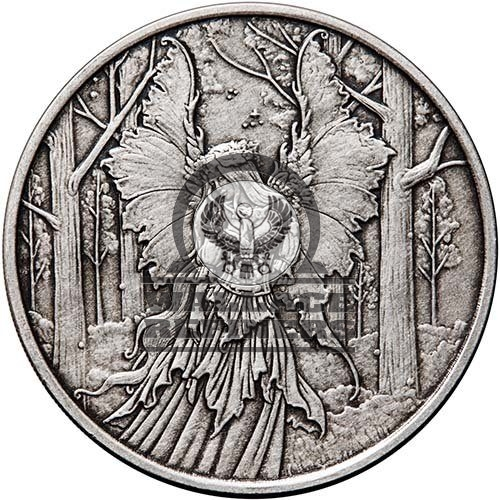 1 oz Antique Amy Brown Collection Lady Of The Forest Silver Round (New w/ CoA)