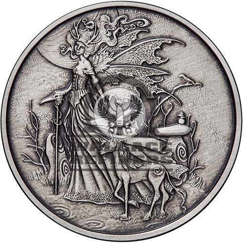 1 oz Antique Amy Brown Collection Red Queen Silver Round (New w/ CoA)