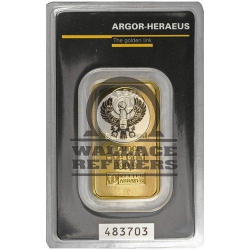 1 oz Argor-Heraeus Gold Bar (New w/ Assay)