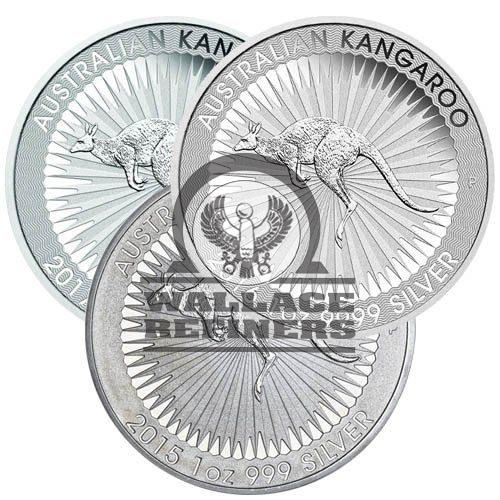 1 oz Australian Silver Kangaroo Coin (Random Year