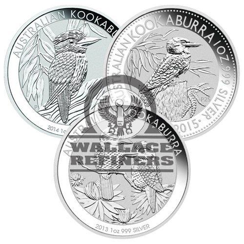 1 oz Australian Silver Kookaburra Coin (Random Year)