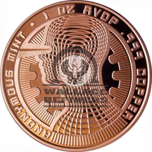 1 oz Bitcoin Guardian Commemorative Copper Round (New)