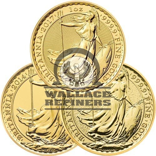 1 oz British Gold Britannia Coin (Random Year)