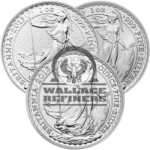 1 oz British Silver Britannia Coin (Random Year)