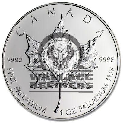 1 oz Canadian Palladium Maple Leaf (Random Year