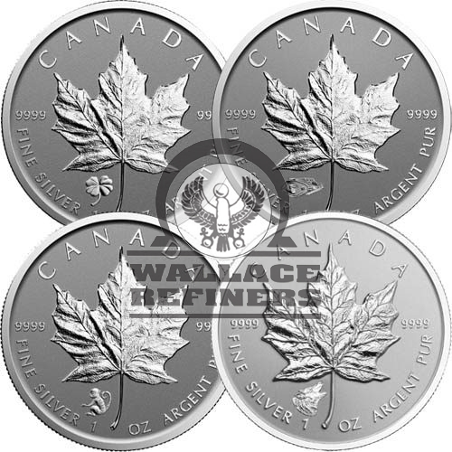 1 oz Canadian Silver Maple Leaf Coin (Varied Privy
