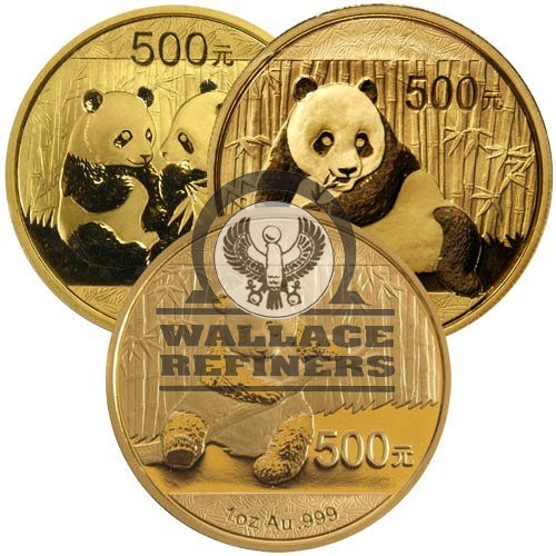1 oz Chinese Gold Panda Coin (Random Year