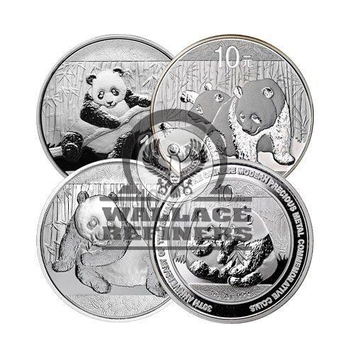 1 oz Chinese Silver Panda Coin (Random Year)