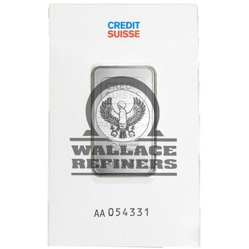 1 oz Credit Suisse Palladium Bar (New w/ Assay)