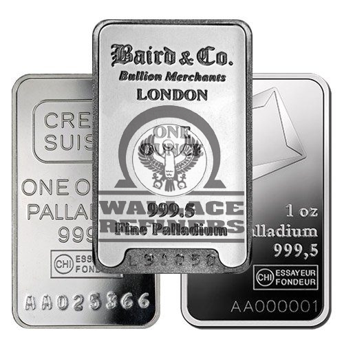 1 oz Palladium Bar (Varied Condition