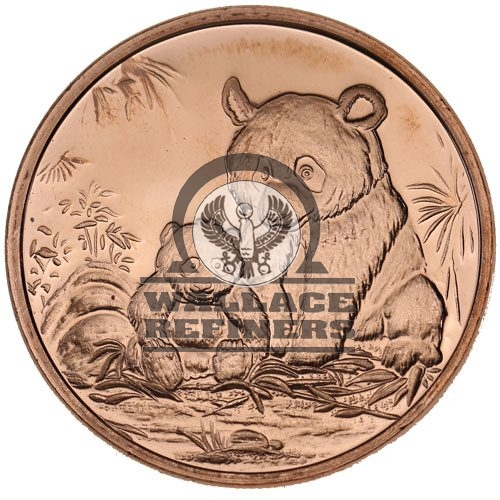 1 oz Panda Copper Round (New)