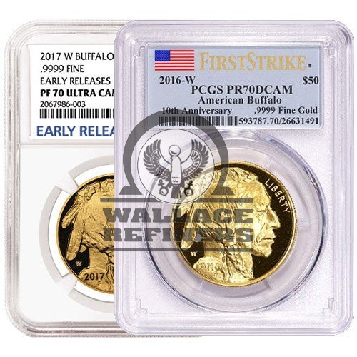 1 oz Proof American Gold Buffalo Coin PR70/PF70 (Random Year