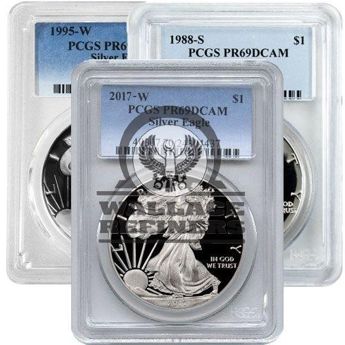 1 oz Proof American Silver Eagle PF69 (Random Year