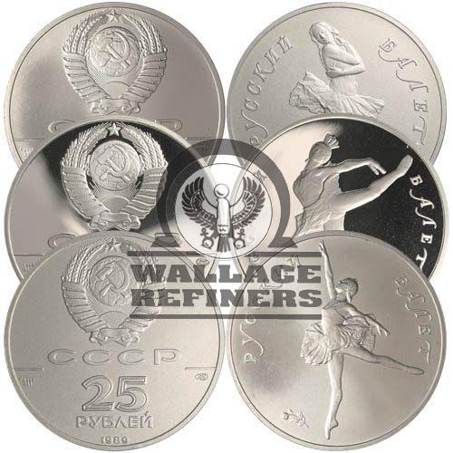 1 oz Russian Palladium Ballerina Coin (Random Year