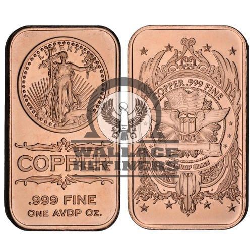 1 oz Saint Gaudens Copper Bar (New)