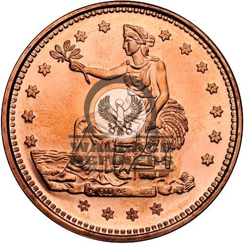 1 oz Trade Dollar Copper Round (New)