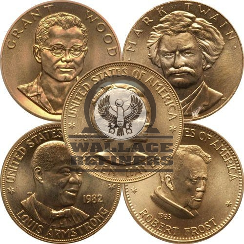 1 oz US Mint Commemorative Arts Gold Medal (Random)