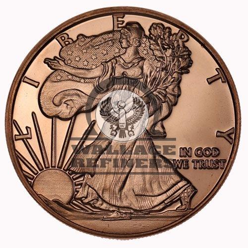 1 oz Walking Liberty Copper Round (New)