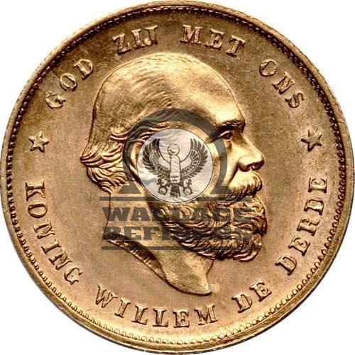 10 Guilders Gold Coin (King