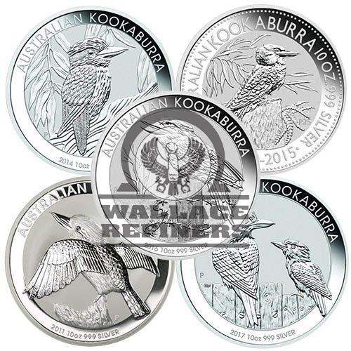 10 oz Australian Silver Kookaburra Coin (Random Year)