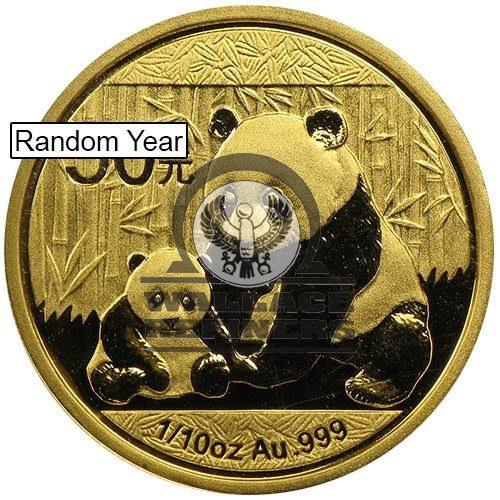 1/10 oz Chinese Gold Panda Coin (Random Year