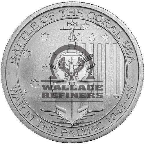 1/2 oz Australian Battle Of The Coral Sea Silver Coin (BU)
