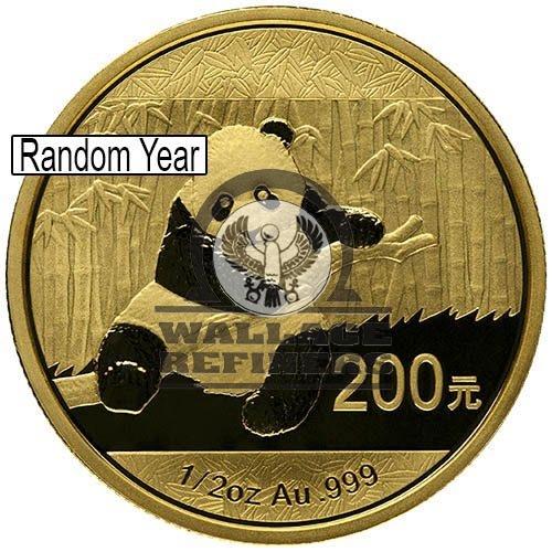 1/2 oz Chinese Gold Panda Coin (Random Year