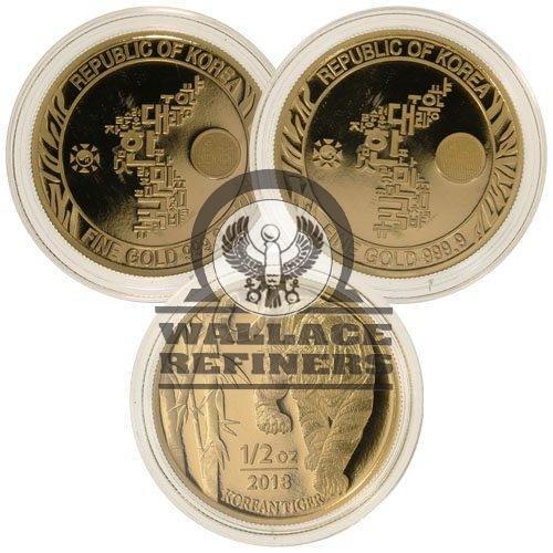 1/2 oz South Korean Tiger Gold Medal (Random Year