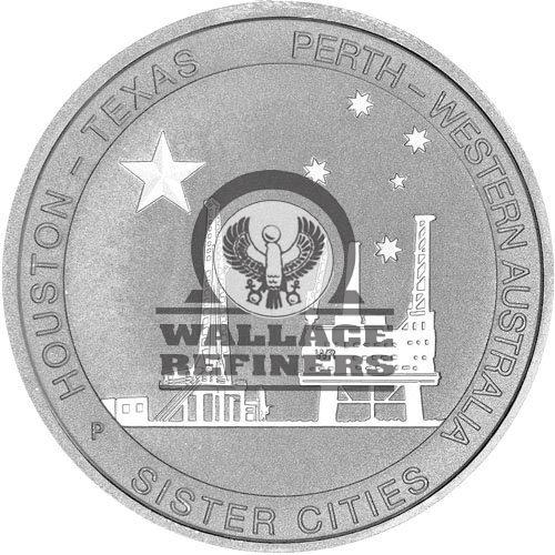 1/2 oz Texas-Australia Sister Cities Silver Coin (New)
