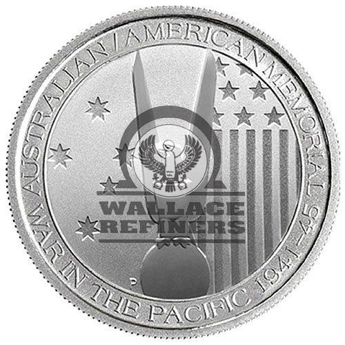 1/2 oz U.S. Australian WWII Silver Coin (BU)