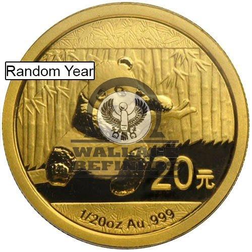 1/20 oz Chinese Gold Panda Coin (Random Year