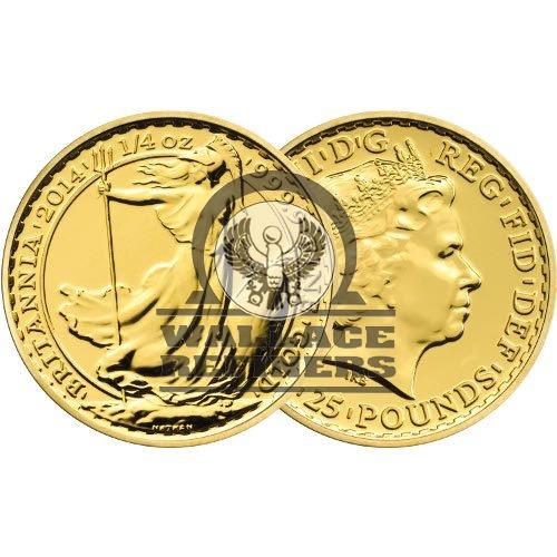 1/4 oz British Gold Britannia Coin (Random Year