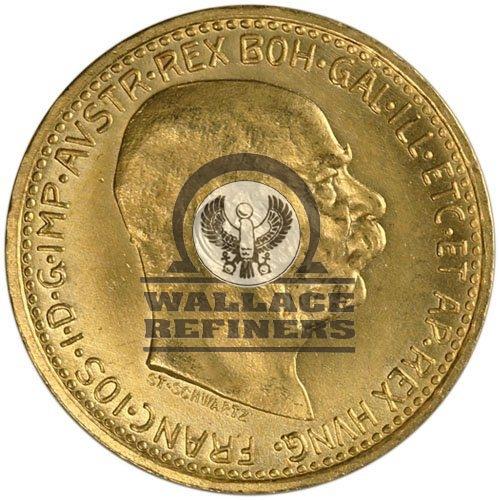 1912 10 Corona Austrian Gold Coin (Restrike)