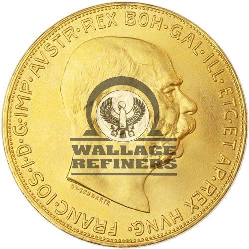 1915 100 Corona Austrian Gold Coin (AU+