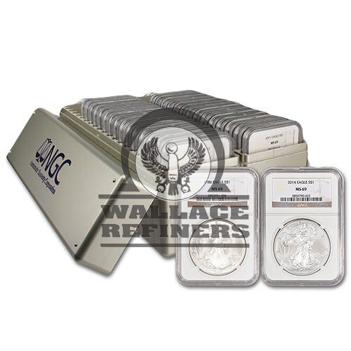 1986-2019 American Silver Eagle 34-Coin Set NGC MS69