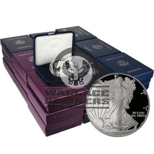 1986-2019 Proof American Silver Eagle 33-Coin Set (Box + CoA