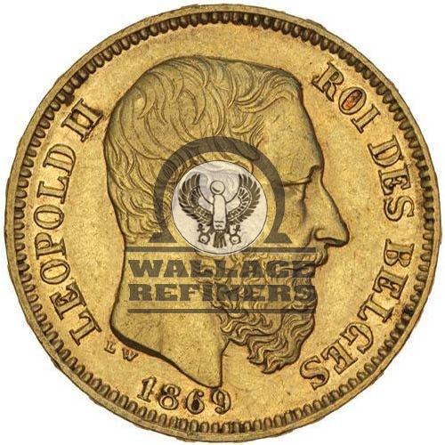 20 Francs Belgium Gold Coin (Circulated)