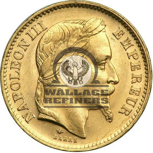 20 Francs France Gold Coin – Napoleon III (Circulated)