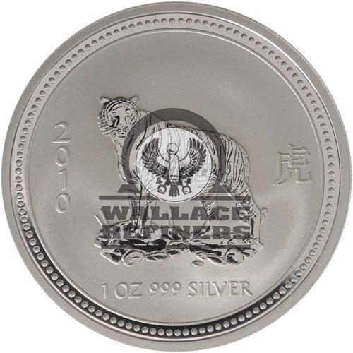 2010 1 oz Australian Silver Lunar Tiger Coin