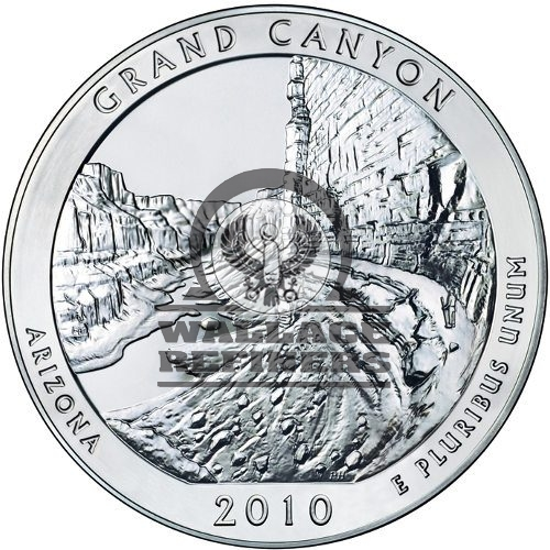 2010 5 oz ATB Grand Canyon Silver Coin