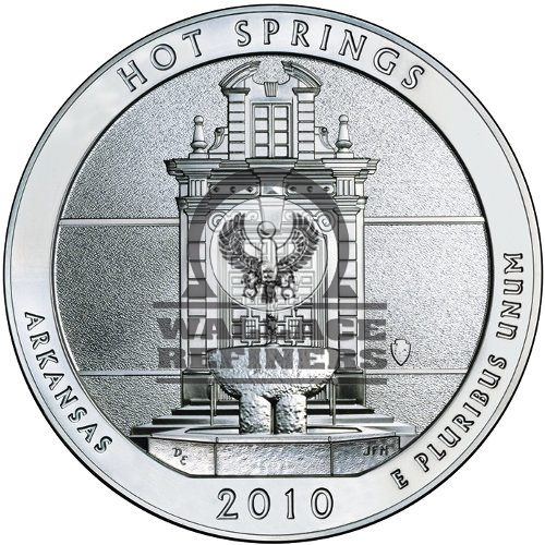 2010 5 oz ATB Hot Springs Silver Coin