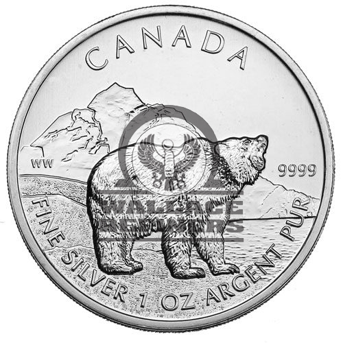 2011 1 oz Canadian Grizzly Silver Coin (BU)