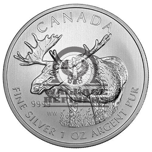 2012 1 oz Canadian Moose Silver Coin (BU)